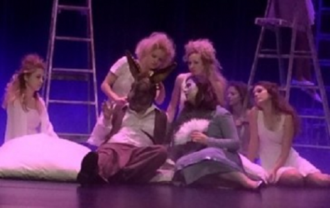 SOPHOMORE JESSICA JAFFE and junior Caitlin Owens perform in the citywide drama production of A Midsummer Night's Dream.