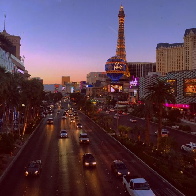 SENIOR+LAUREN+HARRIS+visits+the+Las+Vegas+strip+for+Spring+Break.+