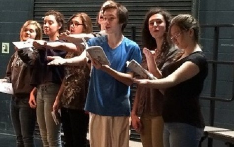 FALCON THEATER STUDENTS reherse for their upcoming production.