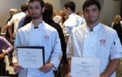 SENIORS BROCK PERQUE and Charlie Rohlfing take home scholarships at the recent C-CAP competition.