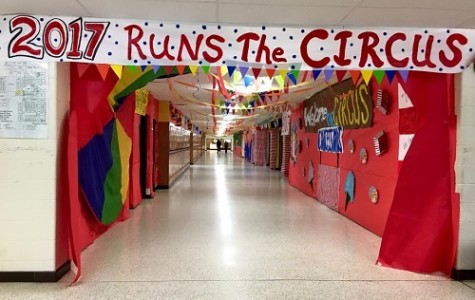 THE JUNIOR HALLWAY placed first in the Hallway Decorating contest.
