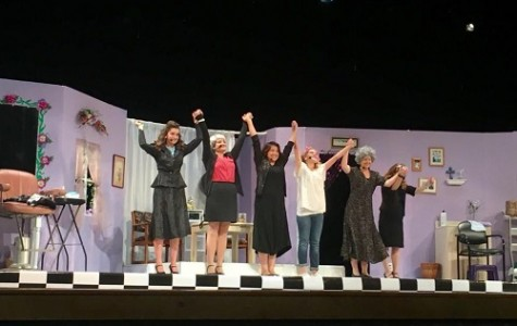THEATER'S STEEL MAGNOLIA cast gives a final bow.