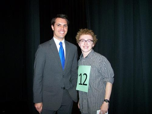 NEWS CHANNEL 3 Weatherman Myles Henderson, with Jack Colgan, acted as one of the Cox Idol judges last year.
