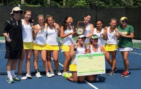 Girls tennis bring home state title