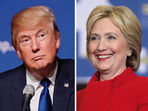 DONALD TRUMP AND Hillary Clinton battle it out in the first presidential debate at Hofstra University in New York.