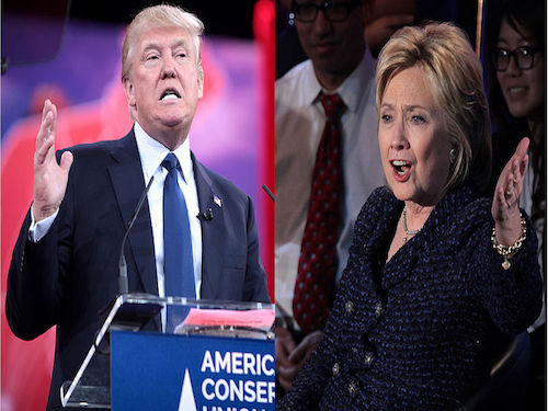 DONALD TRUMP AND Hillary Clinton battle it out in the last presidential debate at the University of Nevada