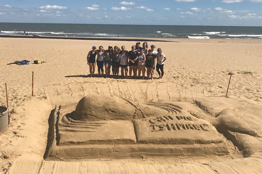 NAHS sand sculpture takes second
