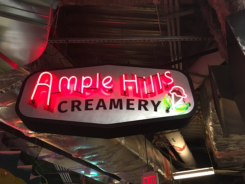 JUNIOR ANNA MASON takes a photo of Ample Hills Creamery in New York City.