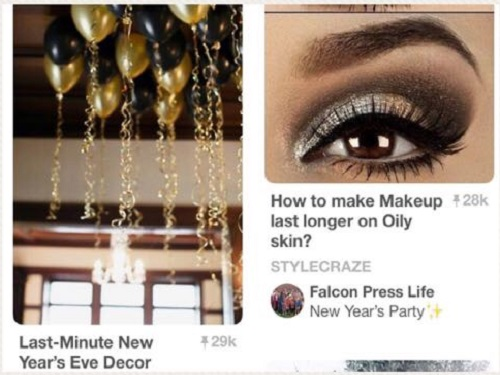 FALCON PRESS LIFE'S Pinterest board presents New Year's Eve style trends.