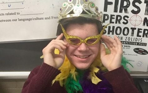 "SOPHOMORE SHANE SANDERS found the ""baby"" in the beignet in his French class today, making him the King of Mardi Gras in his French II class."