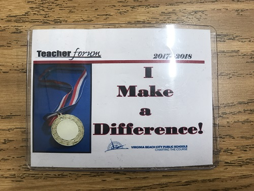 THE I MAKE a difference award is given to a new faculty or staff member each week.
