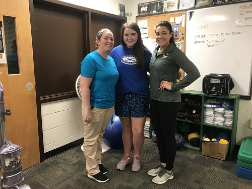 Q & A: a day in the life of a student athletic trainer