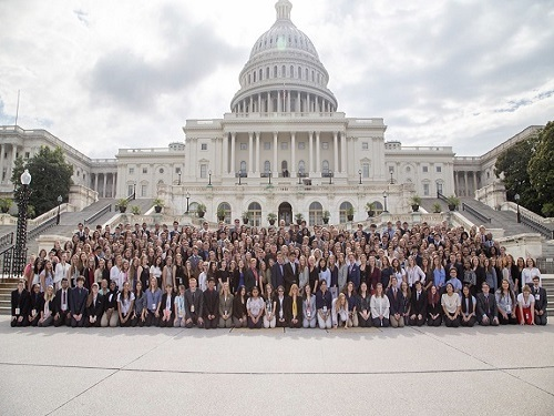 NATIONAL YOUTH DELEGATES were chosen  as the select 250 students to attend the Washington Youth Summit on the Environment this summer held in Washington D.C.