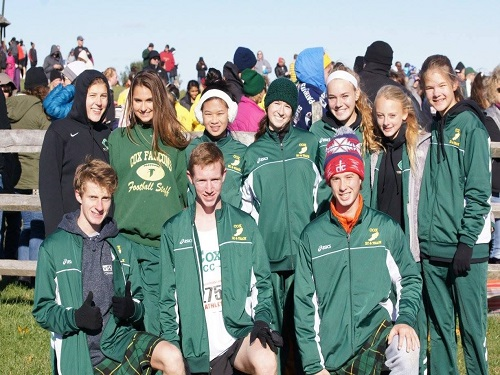 FALCON CROSS COUNTRY, boys and girls teams, competed at last year's 6A state meet held at Great Meadows.