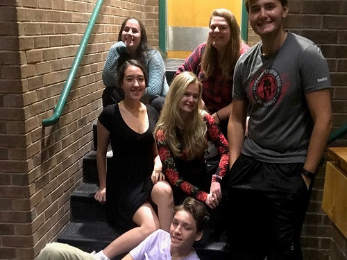 FALCON STAGE COMPANY students in mRs. Machays upper level theater class will attend a major competition next weekend. These students were chosen based on previous performances.