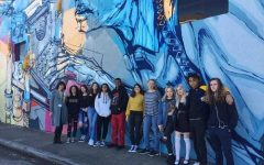 Art students view local art, up close and personal