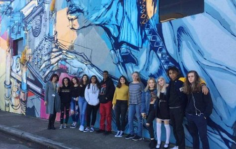 ART STUDENTS RECENTLY visited the Chrysler Museum of Art in Norfolk to check out art made by inmates in local jail facilities.  Students also walked through Norfolk's NEON district to see the many wall murals created by local artists.