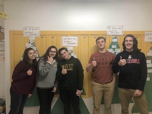 AP BIOLOGY STUDENTS wait patiently for their field trip to Eastern Virginia Medical School to get a behind the scenes look at daily life. Students will tour EVMS, as well as the Norfolk Children's Hospital (CHKD).