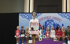 Junior Ann Staskin dances to the Irish national competition