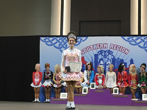 JUNIOR ANN STASKIN wins her regional Irish dancing competition in Houston, Texas. Staskin perfected this specific routine for six months.