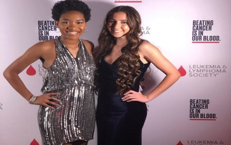 SENIOR SYDNEY DOYON (right) attends the LLS gala in March as one of many high school students who raised money for the organization.