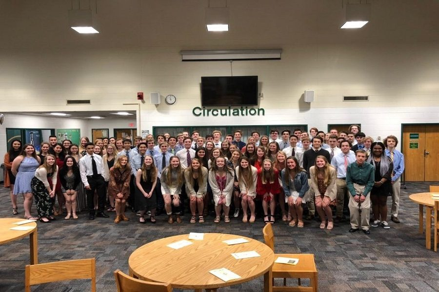 NATIONAL HONOR SOCIETY inducts its newest members on Thursday, March 28 at 6:30 p.m. In addition, senior Madeline Butkovich was awarded a $3200 scholarship from the NASSP parent organization.