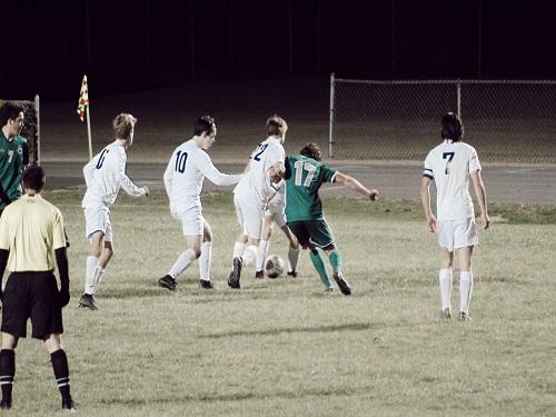 SENIOR CLAY O'BARA attempts to make a goal.
