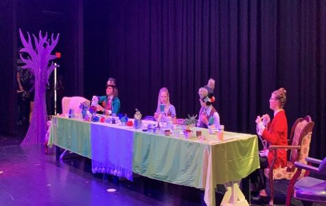 FALCON STAGE COMPANY prepares for their final show of the year, Alice's Adventures in Wonderland. The cast and crew has worked diligently for months in preparation for the esteemed event.