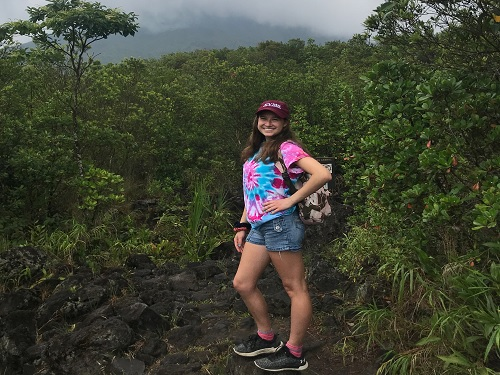 JUNIOR+JORDAN+PARKER-ASHE+stops+for+a+picture+along+her+hike+in+Volc%C3%A1n+Po%C3%A1s+National+Park+in+Costa+Rica.+The+tropical+destination+was+full+of+great+views+and+warm+weather.+