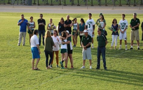Lacrosse teams celebrate senior night win