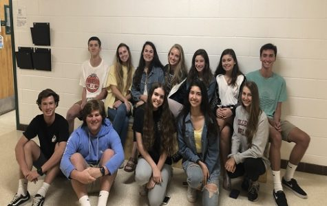NEXT YEAR'S NHS executive officers meet to prepare next year's activities. The new members have big plans and are excited to implement them in the fall.
