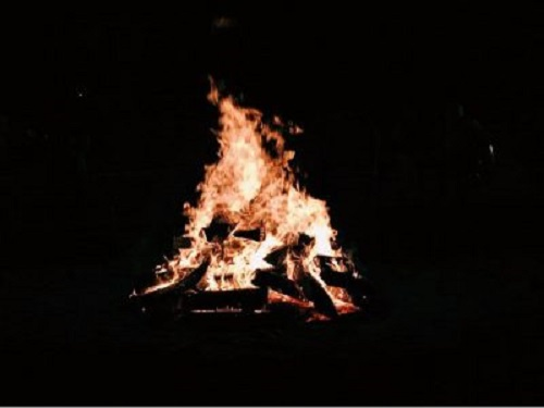 HOMECOMING WEEK BEGINS with an annual bonfire to promote school spirit. Last yea's Bonfire was a hit with students, faculty and staff, who all came out to support one another during one of the biggest spirit weeks of the year.
