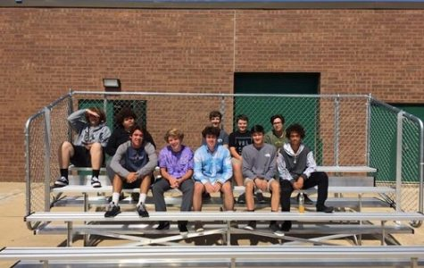 MR. BOUCH'S CONSTRUCTION class builds new bleachers for the baseball team.  These new bleachers add extra seating for baseball fans, which will allow them to move away from the fence while watching games.