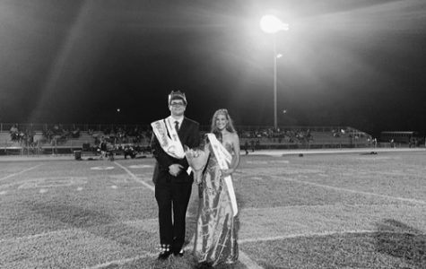 SENIORS WILL JUTTON and Jordan Parker-Ashe win the title of this year's Homecoming king and queen. Jutton and Parker-Ashe were named during the half-time presentation during Friday's football game against Landstown High School.