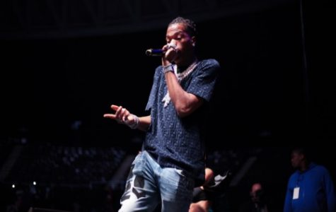 LIL BABY ADDRESSES the crowd at his show at the Norfolk Scope at the beginning of the month. The performance provided a safe venue for Norfolk State's homecoming festivities.