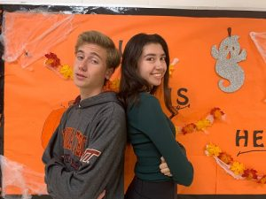 SENIORS ERIC MICHALS and Alex Perez prepare to face off in their monthly He said/She said column. This month they tackled the debate around school dress code.