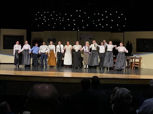 THE CAST OF Silent Sky receives a standing ovation during the curtain call of their production last week. Falcon Stage Company will be producing Flowers for Algernon for their One Act Play competition on Saturday, Jan. 18. Come out to support!