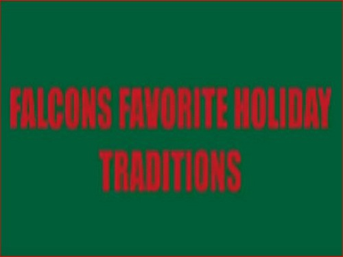 Falcons share holiday traditions
