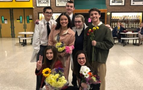 FALCON STAGE COMPANY performs their final One-Act last week.