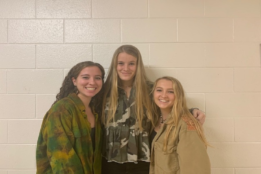 SENIORS KYLIE LEVINE (left), Sarah Spear and Zoe Campisi were recently chosen as finalists for the VHSL Sports Hall of Fame for their contributions to the school's 21st state winning field hockey team.  All three seniors plan to play hockey at their [respective] schools in the fall.