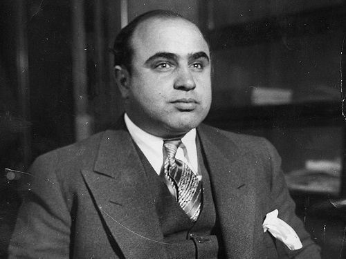 FAMED MAFIA BOSS Al Capone sends his men to do his 'dirty work' during the Valentine's Day Massacre. Many believe that Prohibition and 'mobs' or 'gangs' led to the massacre.