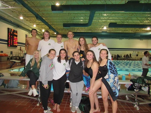 The seniors compete in their final meets of their high school career. The swim team closed out the season with several key accomplishments.
