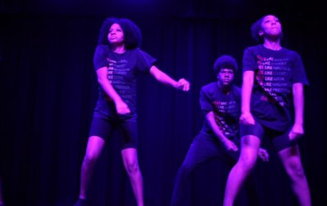 THE BLACK HISTORY month assembly commences with a performance from the school's Step Team, who showed the audience just how important this event was to them.  Students and staff agreed that this was the highlight of the assembly.