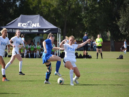 SENIOR JORDAN ESTES continues to play soccer even after her physically painful experience. She plans to commit to play soccer at a university in the future.