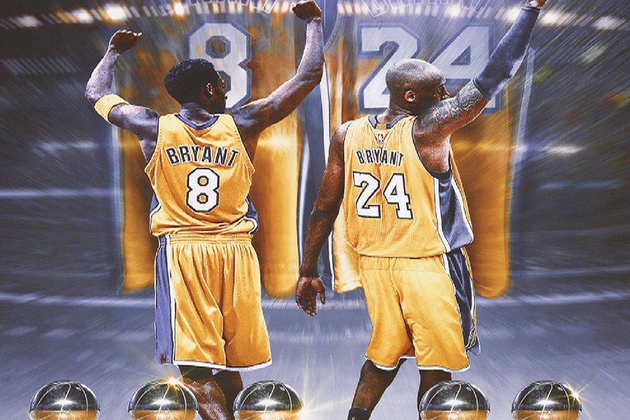 "LOS ANGELES LAKERS retire numbers 8 and 24 during his 20-year career with the L.A. Lakers before his tragic passing only a few weeks ago. He was able to dominate the game with his unrelenting pressure on the ball and his ""Mamba mentality""."