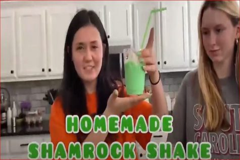 BURKELLE REIGHARD AND Kayleigh Cannaday put a minty twist on their own vintage Shamrock Shake. Reighard and Cannaday tested their own shake against the McDonald
