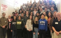PRE COVID KEY Club gathers together for a group photo. The 2019-2020 club members saw great success in their charity work before the pandemic began.