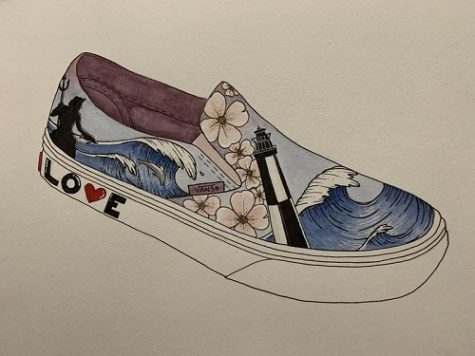 VANS CUSTOM CULTURE competition offers Art students from around the country the opportunity to submit their own Vans creative design. Ntaflous drawn depiction of the citys culture, that earned her a winning submission, was one of positivity and love that can be found within our city, even during the pandemic.