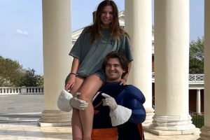 FALCON ALUMNUS CAM Bailey reveals the secret he has kept for the past four year, as UVAs Cav-Man mascot.  Bailey works at sporting events and is a crucial asset to the UVA community.