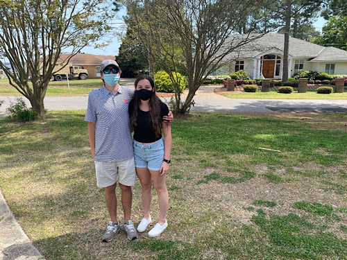 SENIORS COSTAS DELIDAKIS and Taylor Thompson share their thoughts about living life during senior year amid the pandemic. Delidakis and Thompson realized they had to make the most of it.